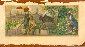 Abundance of Today (mural study, Clarksville, Tennessee Post Office)