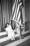 Toddler Touching Flag, Los Angeles, 1983
