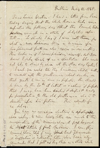 Letter from Richard Davis Webb, Dublin, [Ireland], to Lucia Weston, May 14, 1858