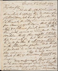 Letter from William Smeal, Glasgow, [Scotland], to William Lloyd Garrison, [18]40 [August] 1