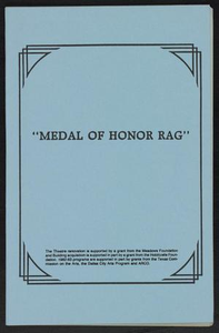 Program: Medal of Honor Rag Home - A Play By Samm-Art Williams - Curtis King