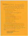 Flier for a women's studies course offered at Alabama State University in Montgomery.
