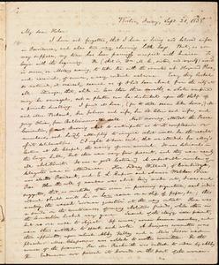 Letter from William Lloyd Garrison, Boston, [Mass.], to Helen Eliza Garrison, Friday, Sept. 21, 1838