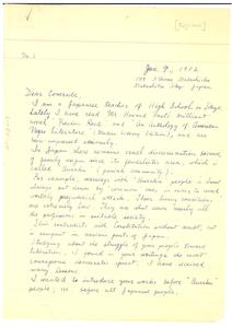 Letter from Kojima Shozo to W. E. B. Du Bois