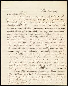 Letter from James Miller M'Kim, Phil[adelphia], [Penn.], to Maria Weston Chapman, Feb. 3/[18]44