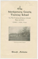 """Promotional leaflet for the Montgomery County Training School (""""For the Training of Young Colored Boys and Girls"""") in Waugh, Alabama."""