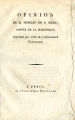 Opinion de M. Moreau de S. Méry, député de la Martinique...