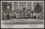 [Group of students at conference at Howard University, Washington, D.C., with NAACP banner]