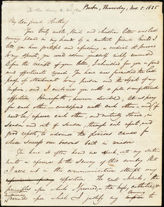 Letter from George Thompson, Boston, [Massachusetts], to Henry Clarke Wright, 1835 Nov[ember] 5