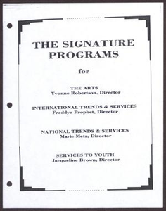 Links Chapter Documentation: The Signature Programs San Antonio Chapter of Links Records Links San Antonio Papers