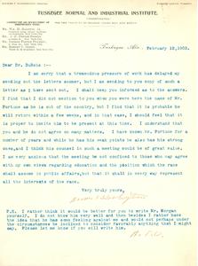 Letter from Booker T. Washington to W. E. B. Du Bois