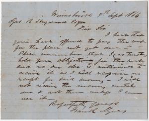 213a. Frank Myers to James B. Heyward -- September 7, 1864