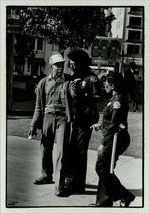 Atlanta Police Officers attempt to restrain an angry pedestrian, October 29, 1979