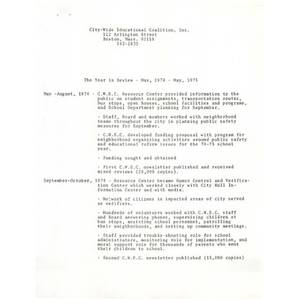 Year in review: May 1974 - May 1975