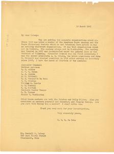 Letter from W. E. B. Du Bois to Wendell P. Dabney