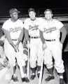 Jackie Robinson, Duke Snider, and Roy Campanella of the Brooklyn Dodgers