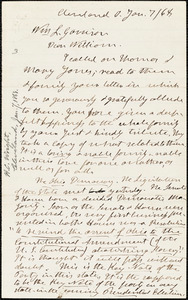 Letter from Henry Clarke Wright, Cleveland, O[hio], to William Lloyd Garrison, [18]68 Jan[uary] 7
