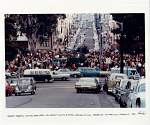 Haight Ashbury, Golden Gate Park Panhandle during a typical weekend musical gathering. San Francisco, CA, 1967