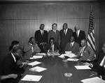 Maurice Hawkins at meeting, Los Angeles, 1962