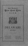 Most worshipful Hiram Grand Lodge, F. Delaware, 1923. [Cover page]