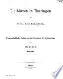 Die Slaven in Thüringen