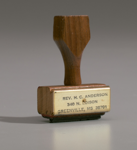 Address stamp from the studio of H.C. Anderson