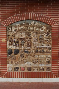 Two-Dimensional Tiled African Mural Panel D