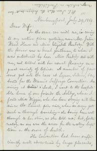 Letter from William Lloyd Garrison, Newburyport, [Mass.], to Helen Eliza Garrison, July 29, 1869