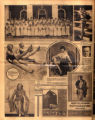 Photomontage of seniors at Ward-Belmont School, actresses, and three ads. Nashville Banner, 1931 October 25.