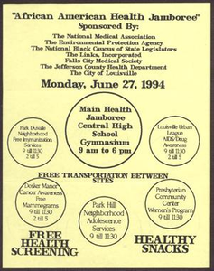 Links Chapter Documentation: African American Health Jamboree Flier San Antonio Chapter of Links Records Links San Antonio Papers