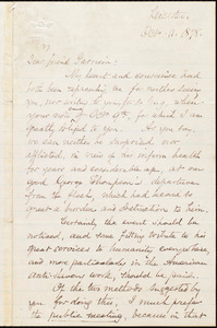 Letter from Samuel May, Jr., Leicester, [Mass.], to William Lloyd Garrison, Oct[ober] 11. 1878