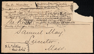 Letter from W. S. Alexander, Cambridge, [Mass.], to Samuel May, Aug. 26, 1890