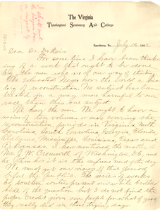 Letter from J. R. L. Diggs to W. E. B. Du Bois