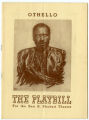 Playbill for Othello at the Sam S. Shubert Theatre, New York. 1943