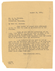 Letter from Crisis to W. P. Pierson