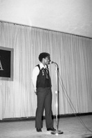 Shelton, Eugene at Microphone