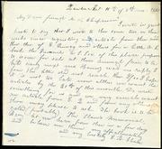 Letter to] My Dear friend M.W. Chapman [manuscript