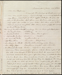 Letter from Frances H. Drake, Leominster, [Mass.], to Maria Weston Chapman, June 22nd / [18]44