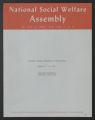 National Social Welfare Assembly, 1920-1980 (bulk 1945-1970). National Social Welfare Committees, 1920-1971. Committee on Youth Services, National Teenage Conference on Human Rights, program, 1964 August 17-21. (Box 61, Folder 37)