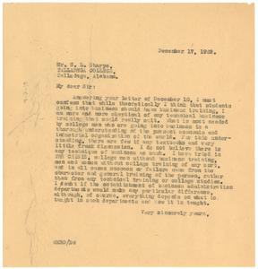 Letter from W. E. B. Du Bois to Talladega College