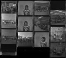 Set of negatives by Clinton Wright including Bishop Webb/Mayor Gragson, Bishop Webb, Mrs. L. Scott in class, Cranford Crowford, Highland School series, Alfredia Johnson, Helldorado Parade, and softball parade at Doolittle park, 1970