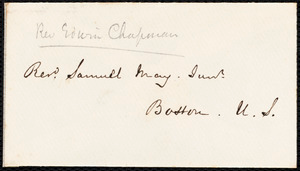 Letter from Edwin Chapman, Bristol, [England], to Samuel May, May 27, 1852
