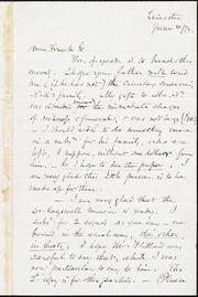 Letter to] Dear Frank G. [manuscript