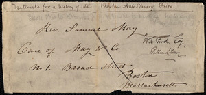 Fragment of an envelope to Samuel May