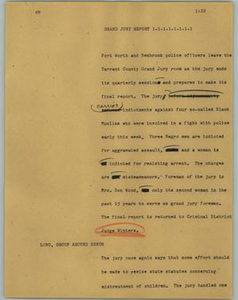 News Script: Grand Jury report