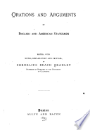 Orations and arguments by English and American statesmen