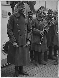 [African American] jazz band leader back with [African American] 15th. Lieutenant James Reese Europ...