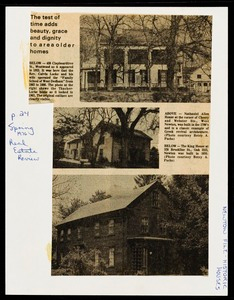 Newton photographs oversize : Allen House : 35 Webster Street / [compiled by the staff of the Newton Free Library]. - Allen House : 35 Webster Street - The Test of Time Adds Beauty, Grace and Dignity to Area Older Homes