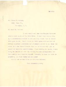 Letter from W. E. B. Du Bois to James H. Gordon