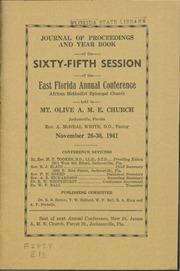 Journal of Proceedings and Year Book of the Sixty-Fifth Session of the East Florida Annual Conference, African Methodist Episcopal Church